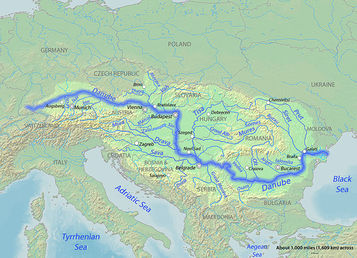 europe physical map danube river Physical Geography   Danube River